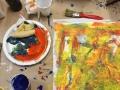 4d3 pizza og maleri